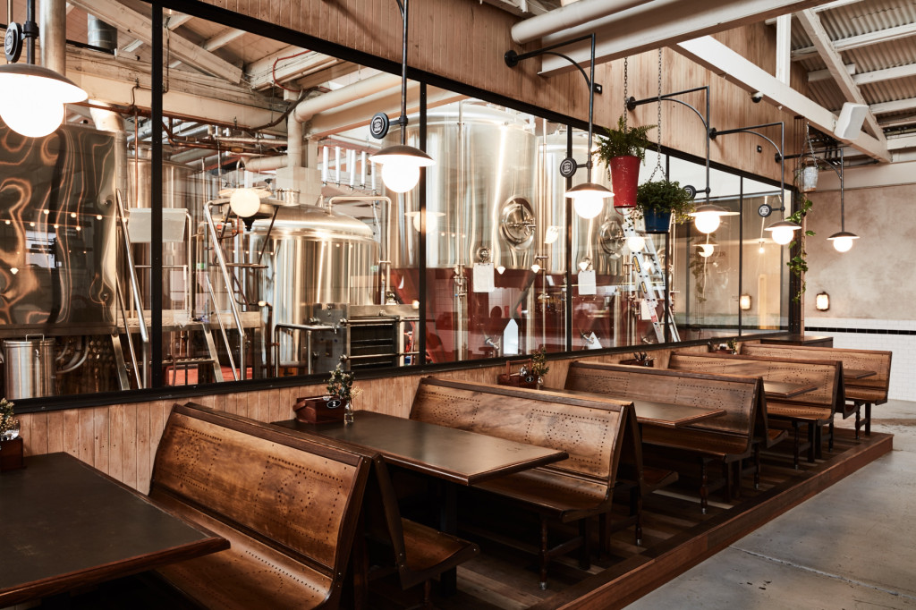 Stomping Ground – detailed chair with glimpses into the brewery