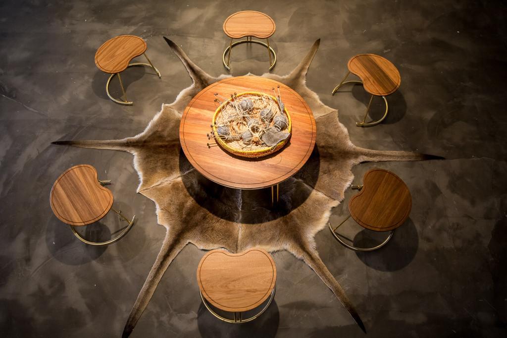 Nyinajimanha (sitting together) table and chairs.