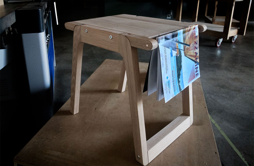 MEZZANINE releases stool to help alleviate homelessness and promote regional makers