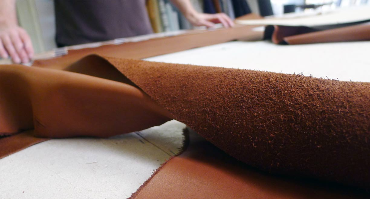 Pelle Leathers talked through the varying types of leather products.