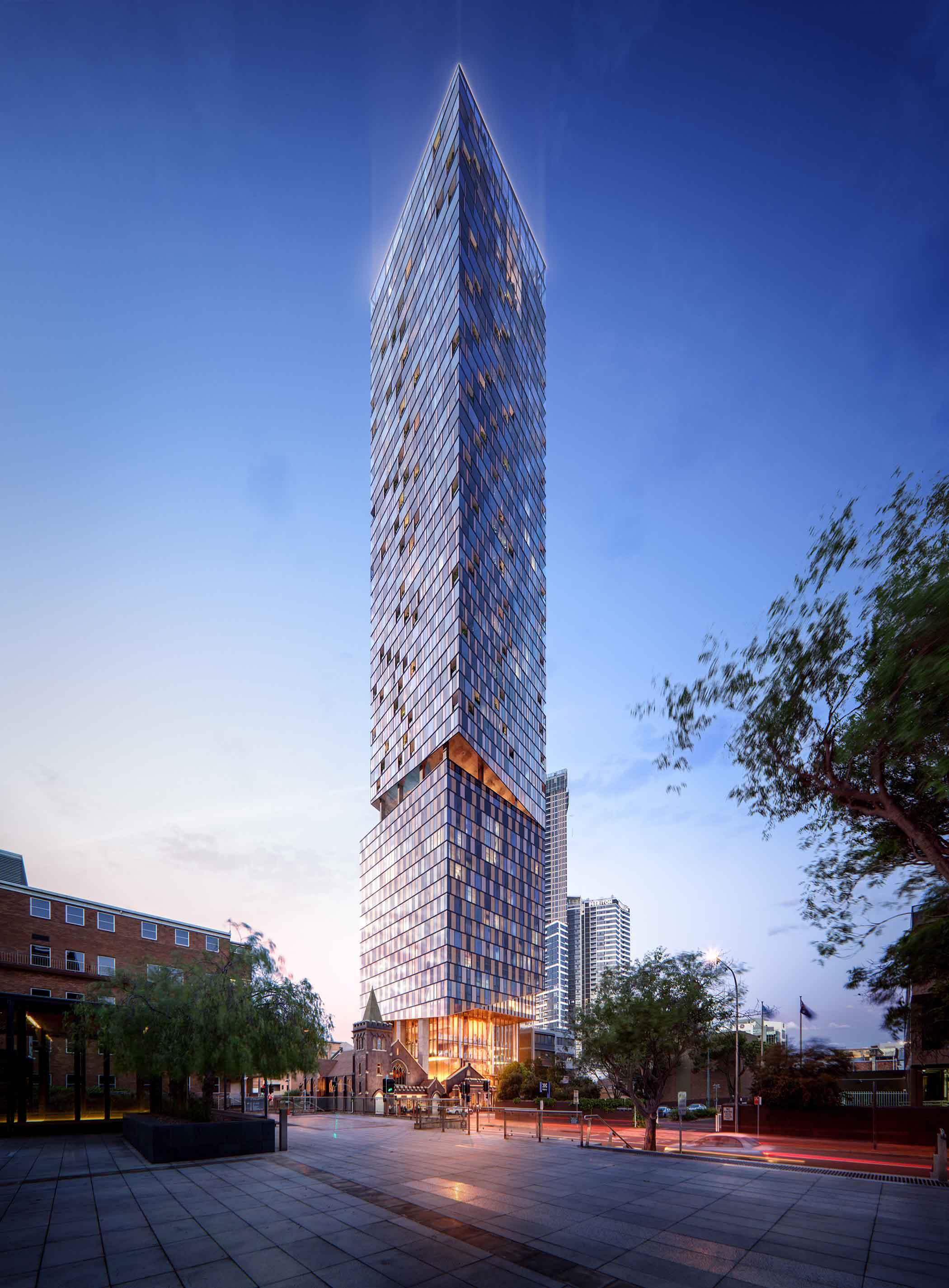Standard Hotel Rooftop >> Sydney's highest rooftop bar: 8 Phillip Street by Woods Bagot | Australian Design Review