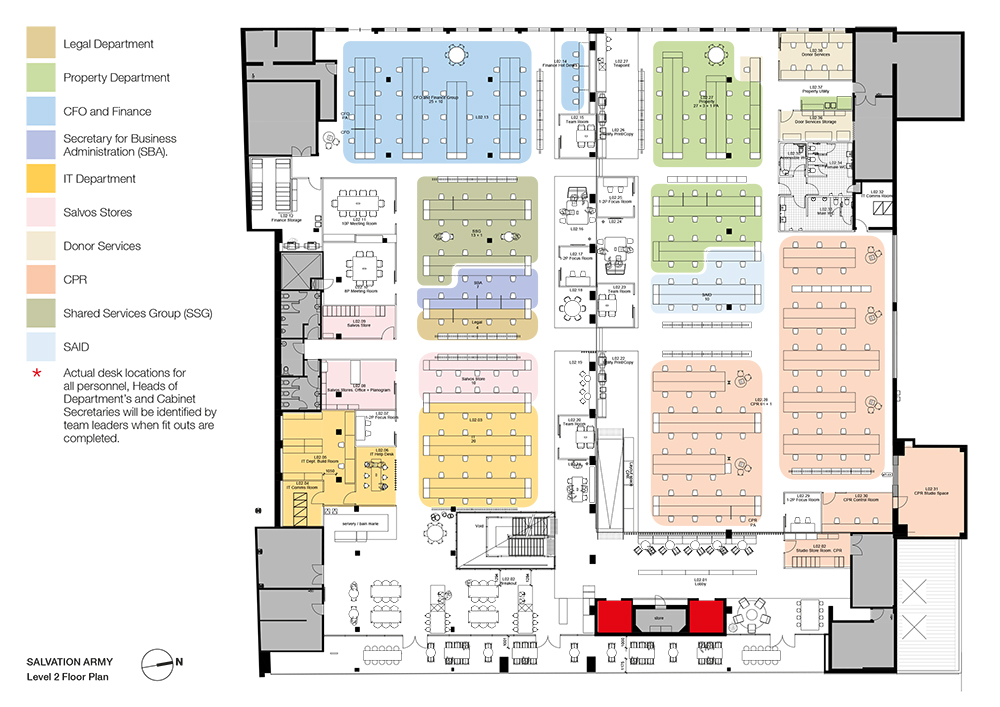 Salvation Army floorplan