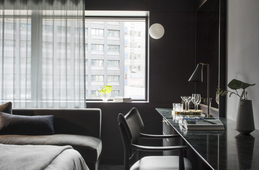 brutal modernity stockholm 39 s at six hotel australian design review. Black Bedroom Furniture Sets. Home Design Ideas