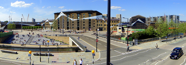 Granary Square, Kings Cross Central. Photo by Matt Kieffer.