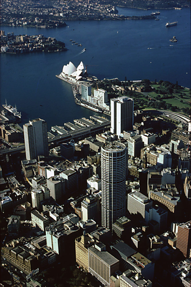 Australia Square in the context of Sydney Harbour.