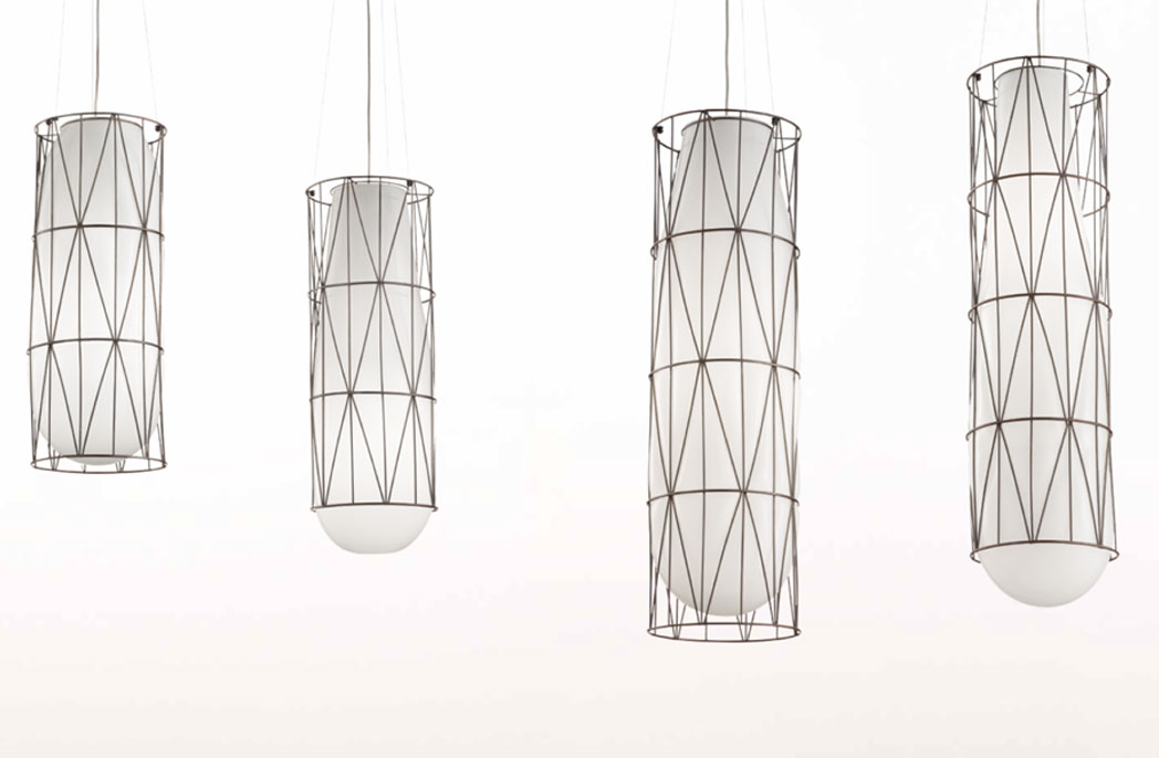 Siru: a collection of blown glass pendants