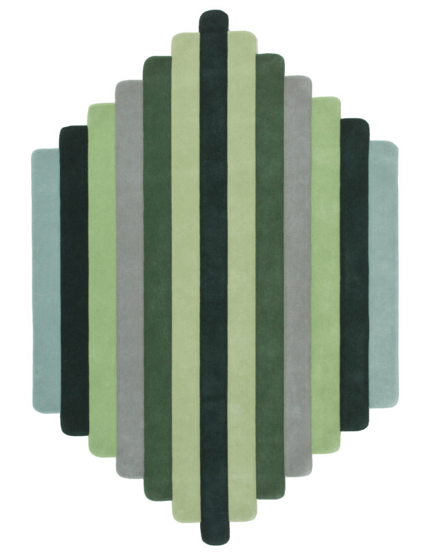 'Lateral' wool rug from Gavin Harris' Mindscape collection for Designer Rugs. Image courtesy Designer Rugs.