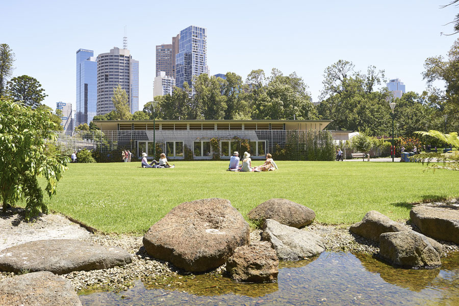 Fitzroy Gardens Redevelopment Project by City of Melbourne City Design Studio. Photo by Nils Koening.