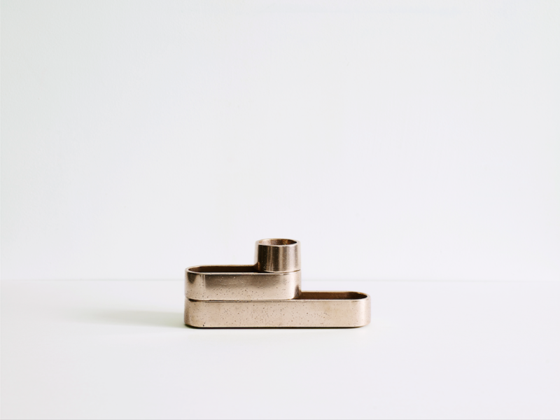 Stack trays in gunmetal bronze.