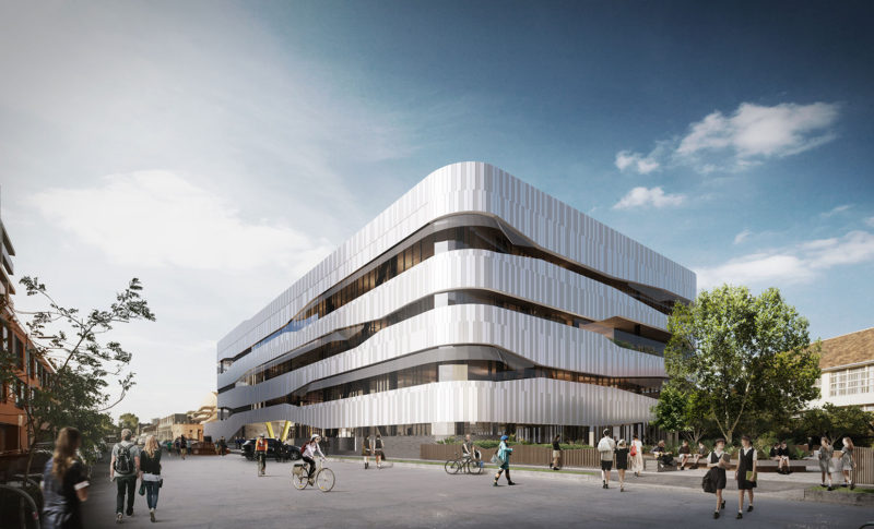 Richmond High School by Hayball. Render courtesy the architect.