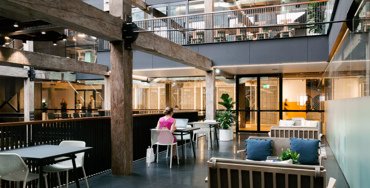 WeWork Melbourne. Parker believes WeWork is a great example of building community.