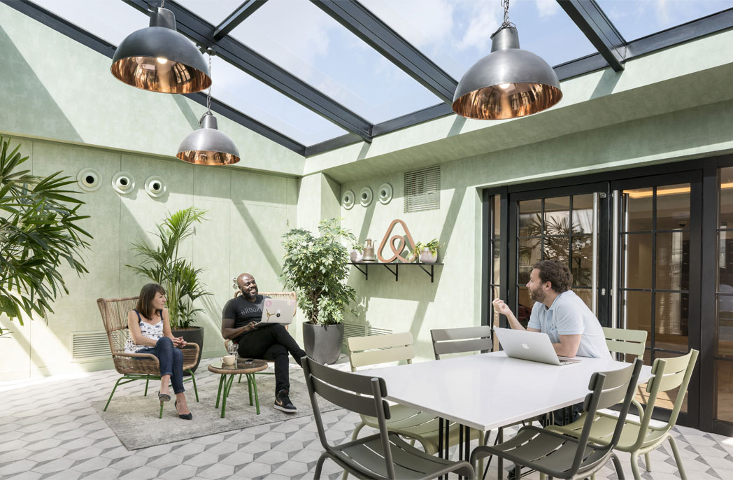 Airbnb's homely Parisian office