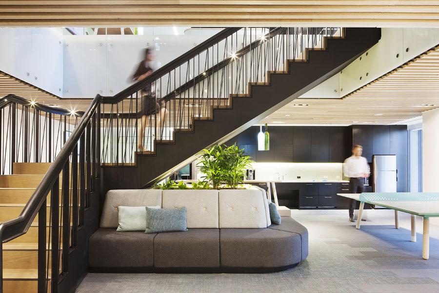 Hall & Wilcox office fitout, Rialto, Melbourne, 2013.