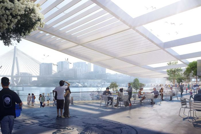 The render of the proposed Sydney Fish Market.