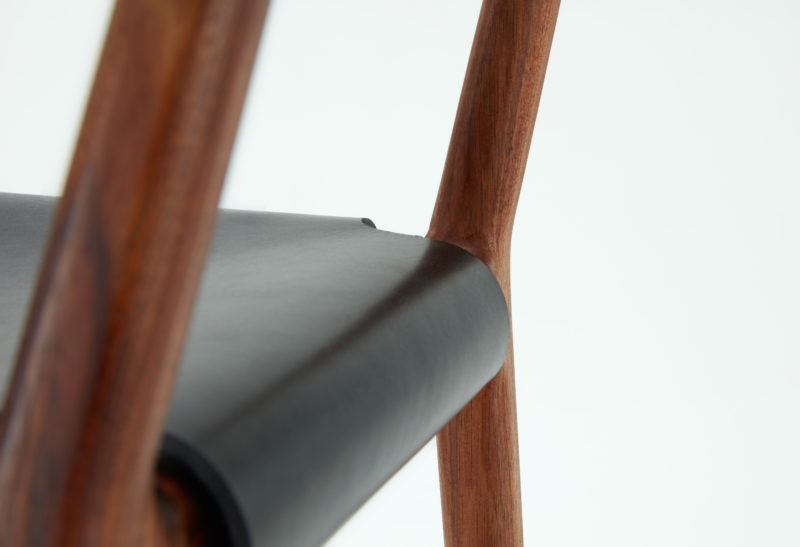 The Pieman dining chair by Tom Fereday for Dessein Furniture. Photo by Haydn Cattach.