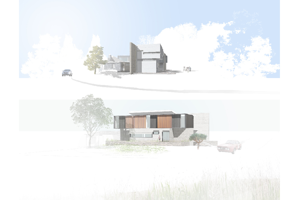 Perspectives of Khôra house (top) and Kellyville house bottom). Images courtesy the architect.
