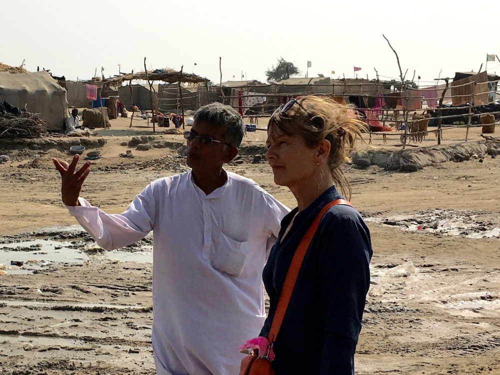 Mette Lange in Gujarat.
