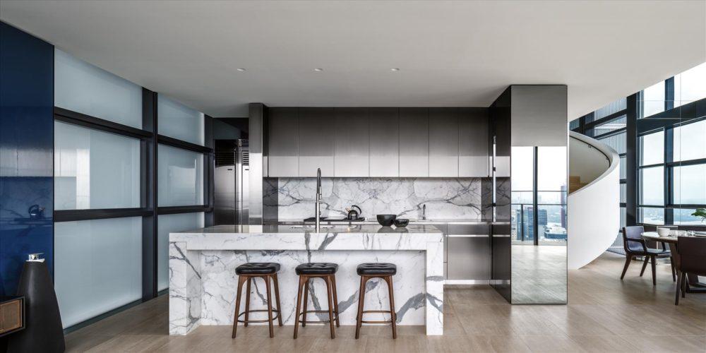 Lumiere penthouse by David Seldin Architects. Photo courtesy the Sub-Zero and Wolf.