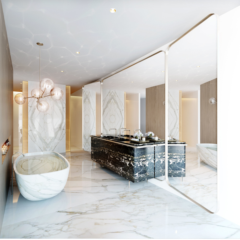 Opera residence, master bathroom.