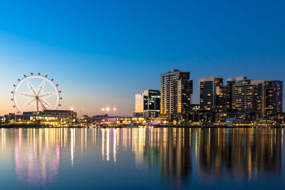 The Docklands waterfront of Melbourne. Photo by scottt13/123RF Stock Photo.