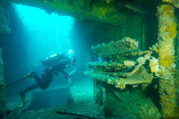 The HMAS Hobart shipwreck. Photo courtesy National Parks South Australia.