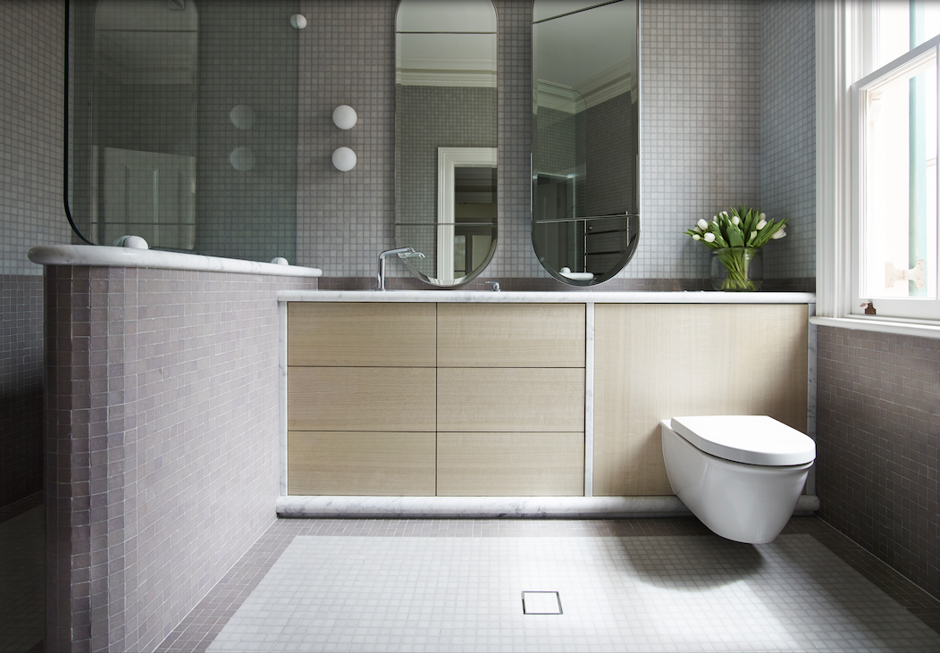 SJB managed to create an accessible bathroom without ugly grab rails.