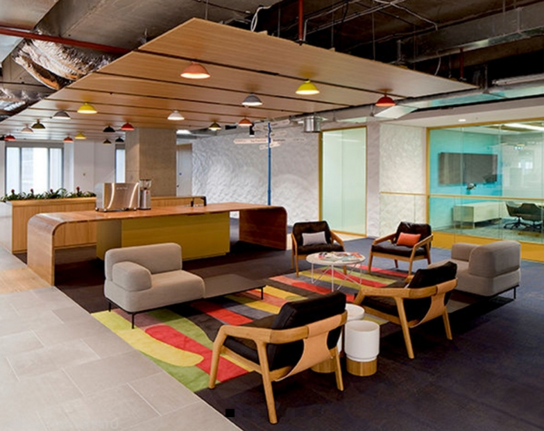 Woods Bagot's workplace fitout for LinkedIn Sydney uses a variety of breakout zones and furniture options.