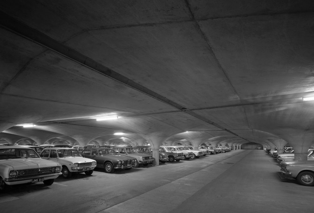 University South Lawn Underground Car Park by Loder & Bayly in association with Harris, Lange and Associates. Photo by John Gollings.