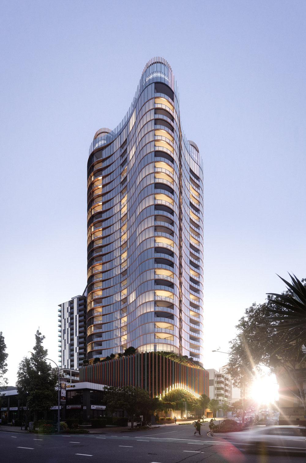 Woods Bagot Aria South Brisbane with communal space