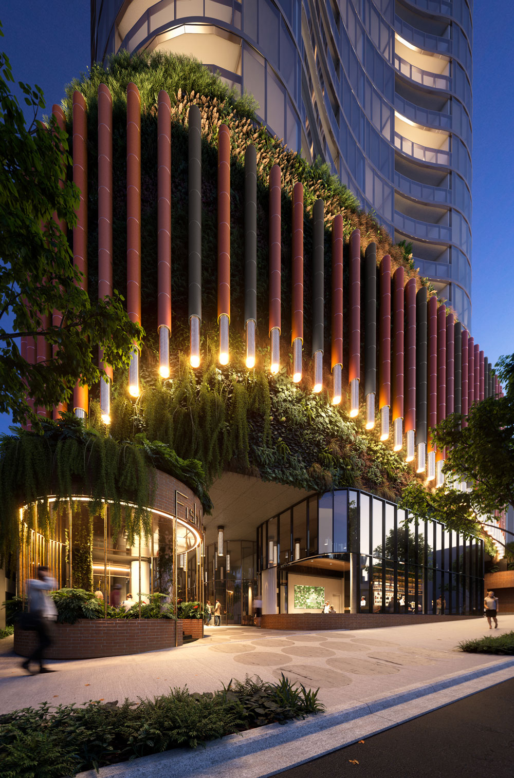 Woods Bagot Aria South Brisbane with communal space 2