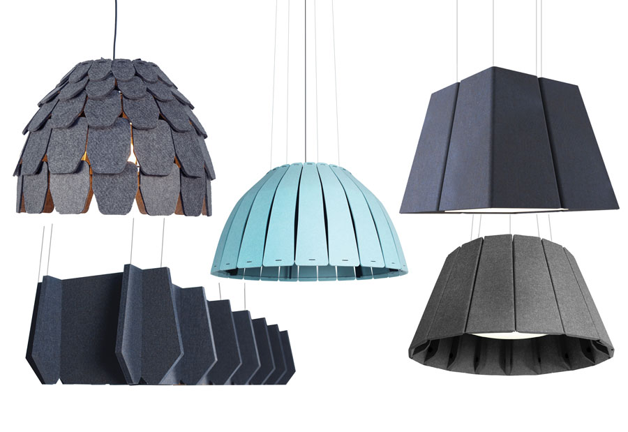 The complete acoustic lighting range from Luxxbox.
