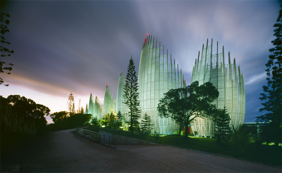 Jean Marie Tjibaou Cultural Centre Noumea by Renzo Piano Architects. Photo by John Gollings.