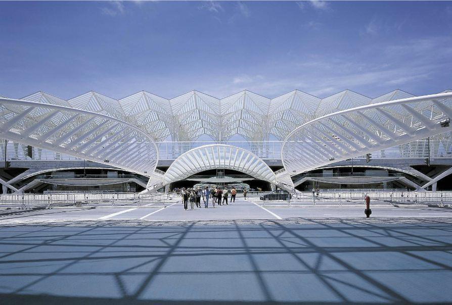 Oriente station Lisbon by Santiago Calatrava.