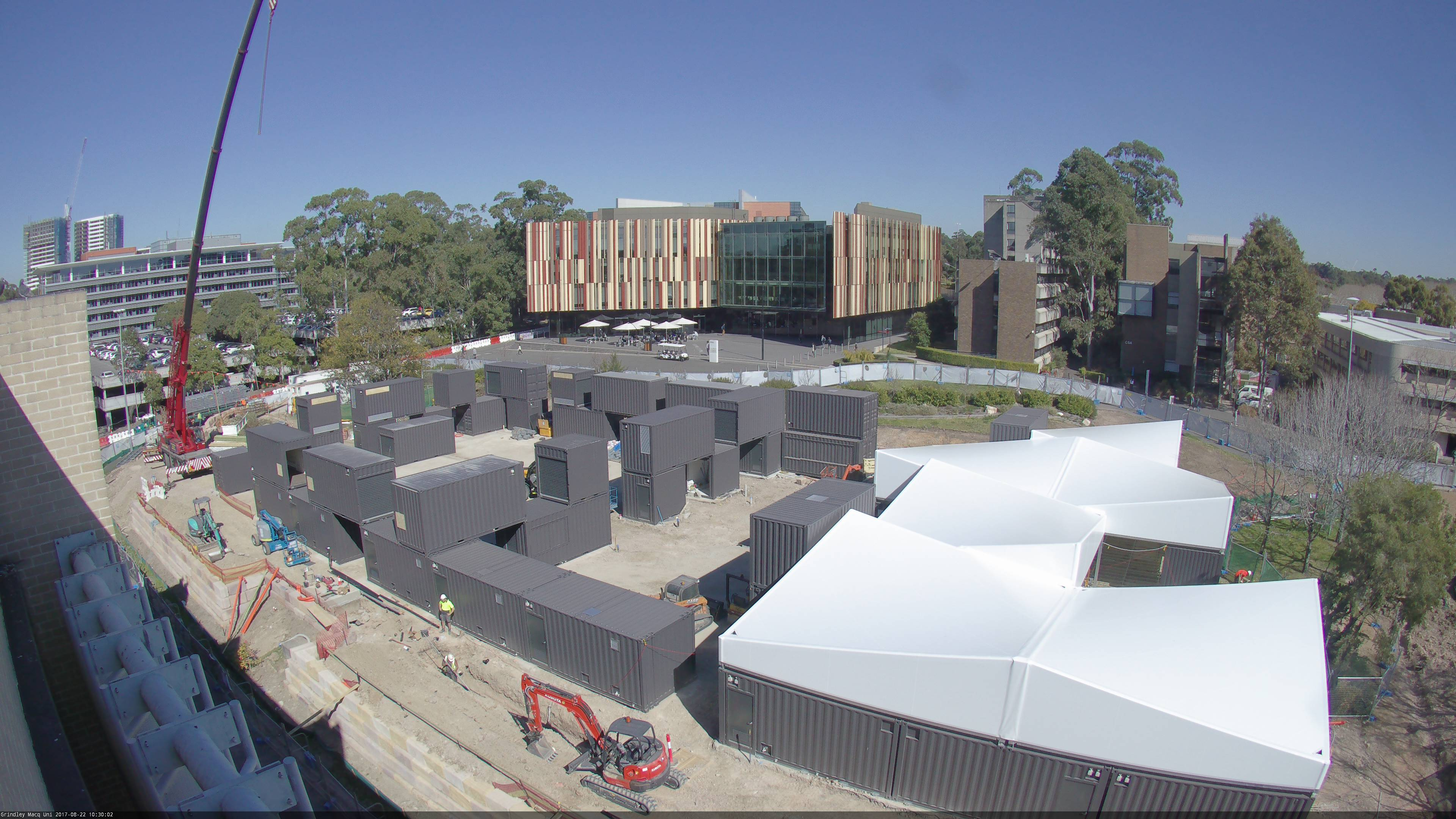 Shipping Container Structure Pops Up At Macquarie University Australian Design Review