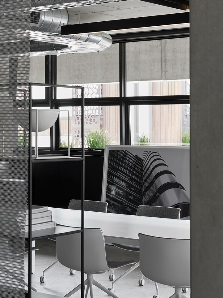 Interior shot of the newly designed Conrad Architect office