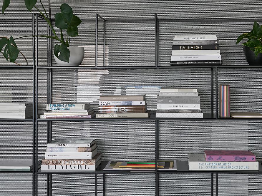 Wire mesh book case