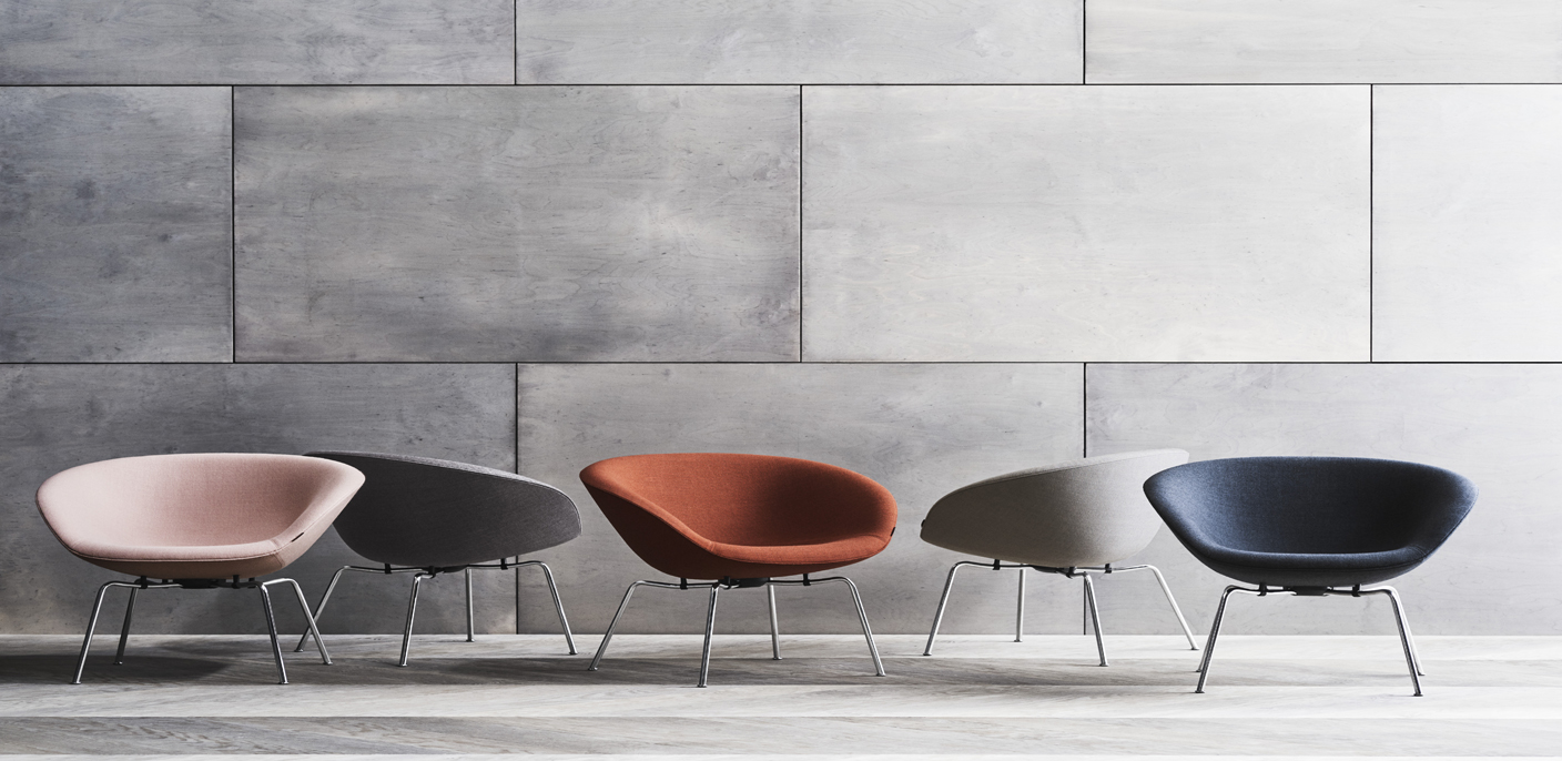 The Pot Chair by Arne Jacobsen