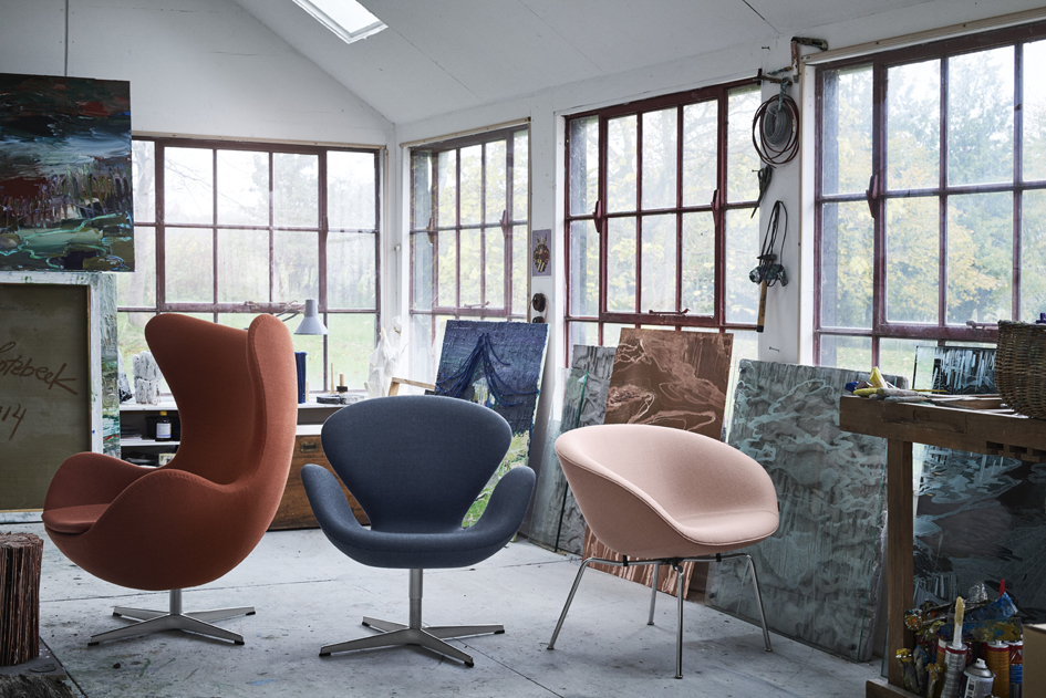 Fritz Hansen chairs by Arne Jacobsen