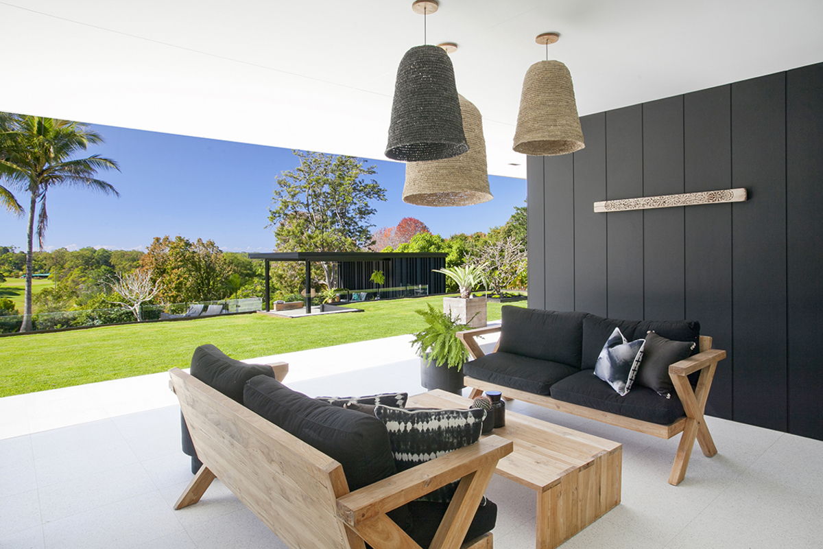 Indoor outdoor living at the Glasshouse