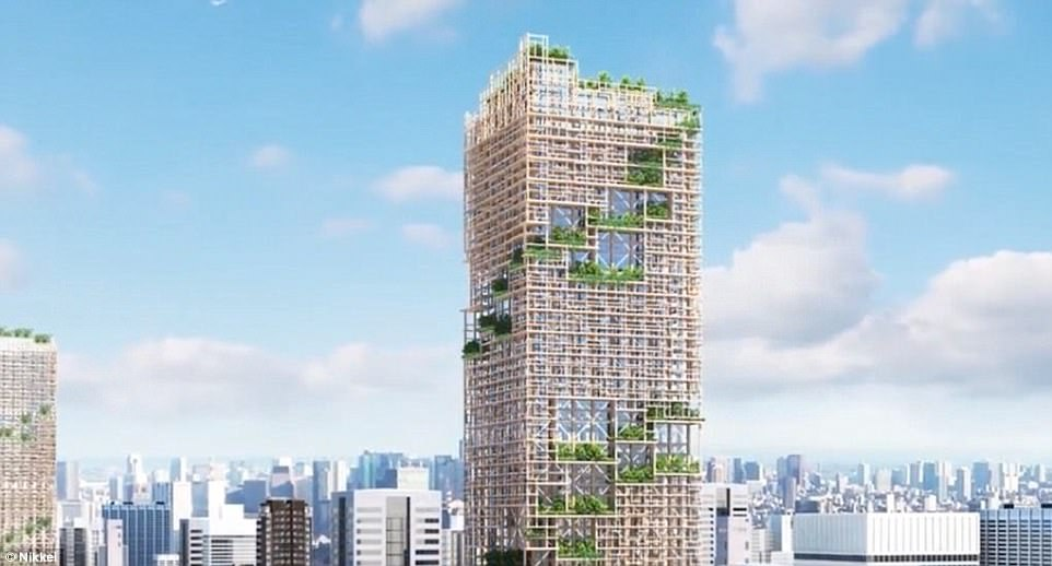 The world's tallest wooden building in Japan