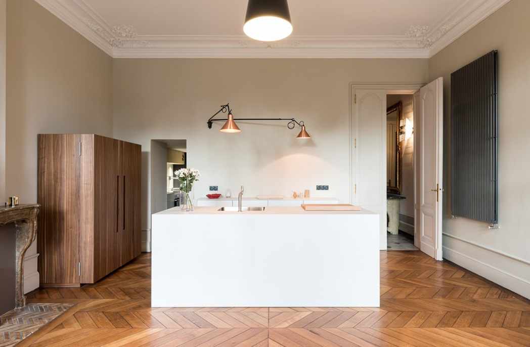 Kitchen in the Bordeaux house