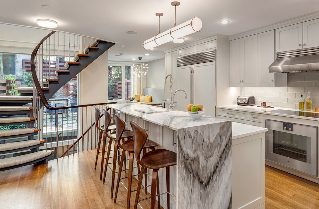 Kitchen of Manhattan's first Passive House