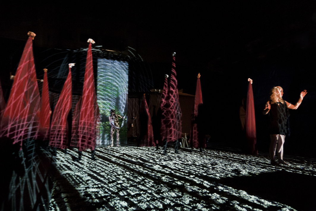 World premiere of the IHOS Opera 'The Barbarians' as part of the 2012 Mona Foma Festival. Image by Lucia Rossi