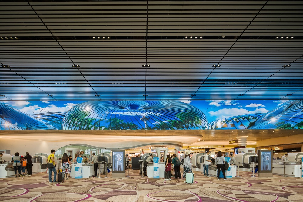 Optical Illusions at Singapore Airport