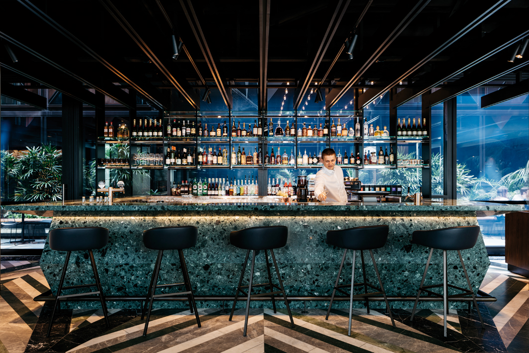 The bar at West Hotel, Sydney