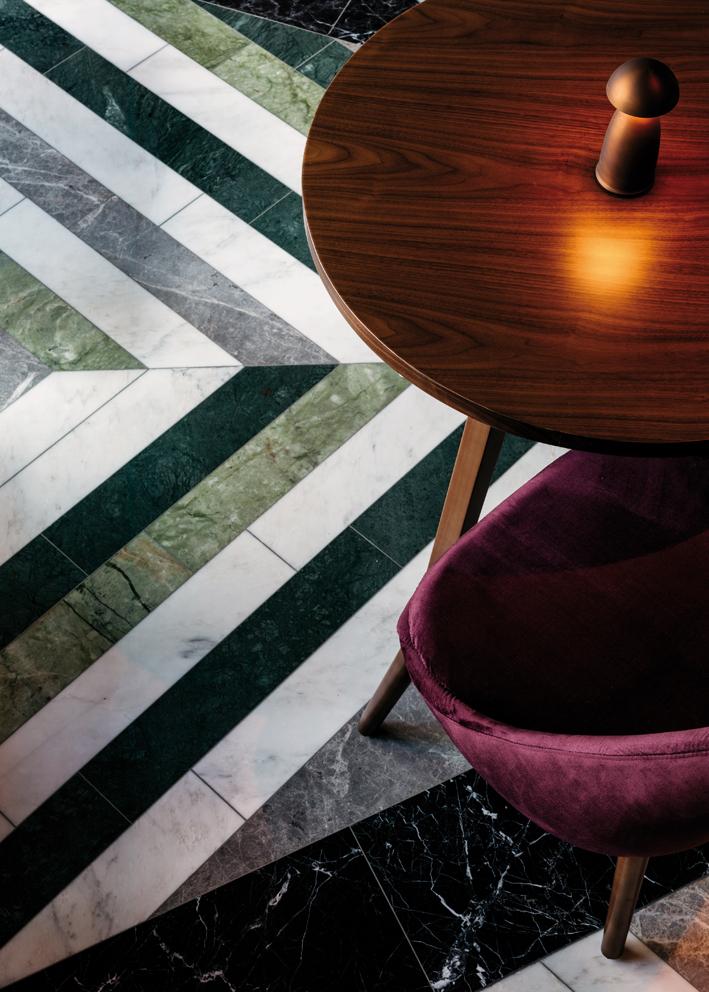 Plush velvet stool