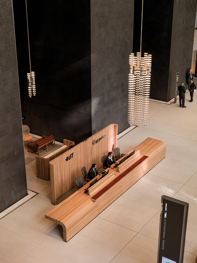 International Towers Sydney Tower 2 Lobby by Woods Bagot