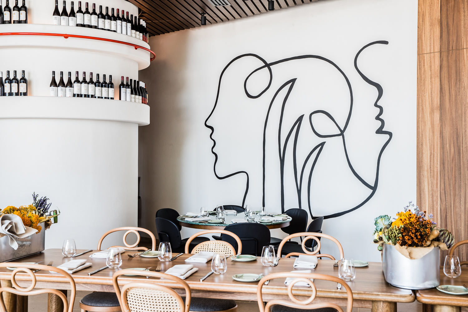 Graphic elements of the Ete restaurant