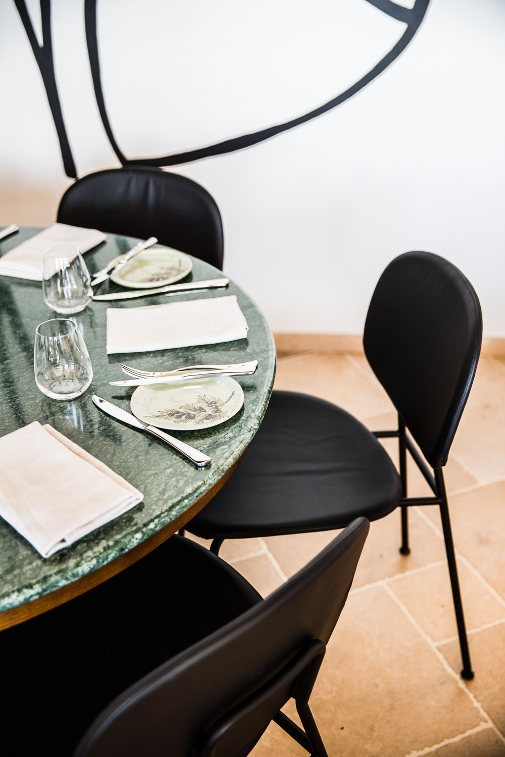 Table in the Ete restaurant