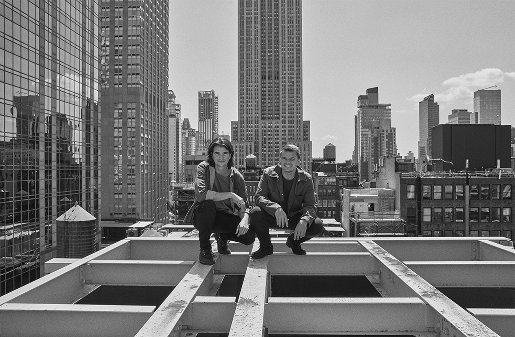 Bjarke Ingels and Adam Neumann